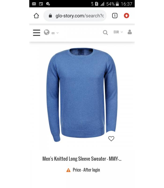 Пуловер мужской Glo-story