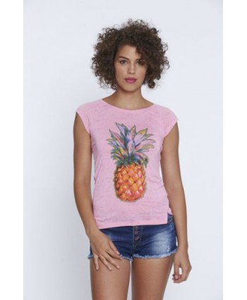 Футболка  Glo-story Pineapple white