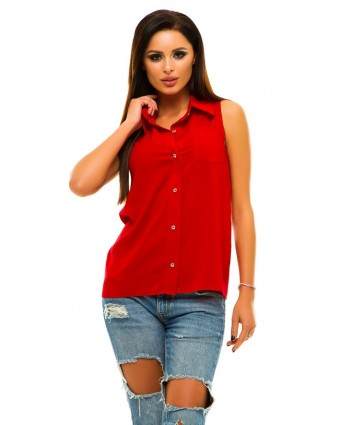 Блузка штапель red