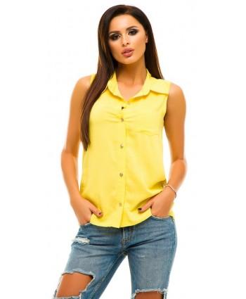 Блуза штапель yellow