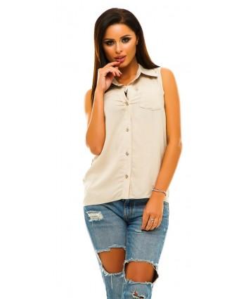 Блуза штапель беж