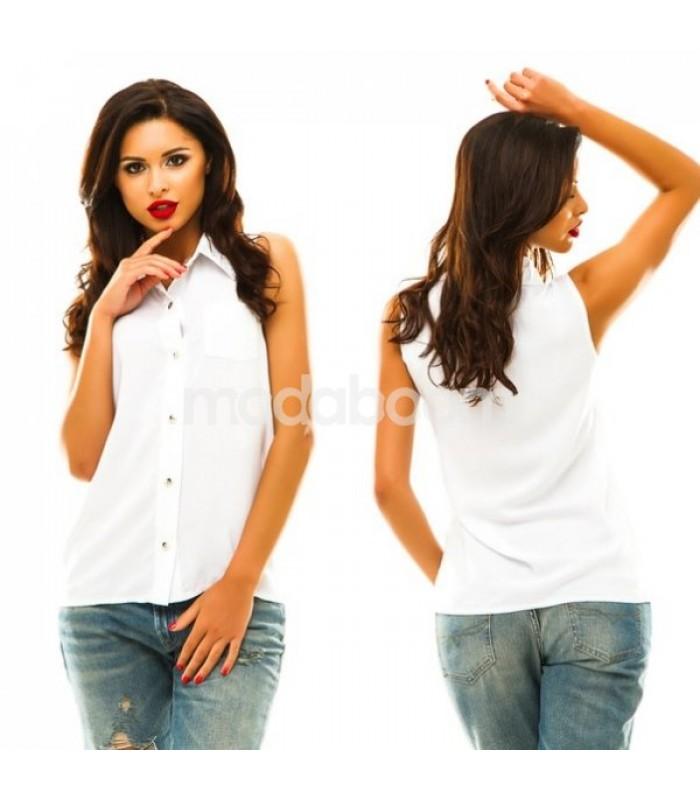 Блузка штапель white