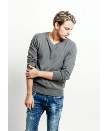 Пуловер  grey Glo-story